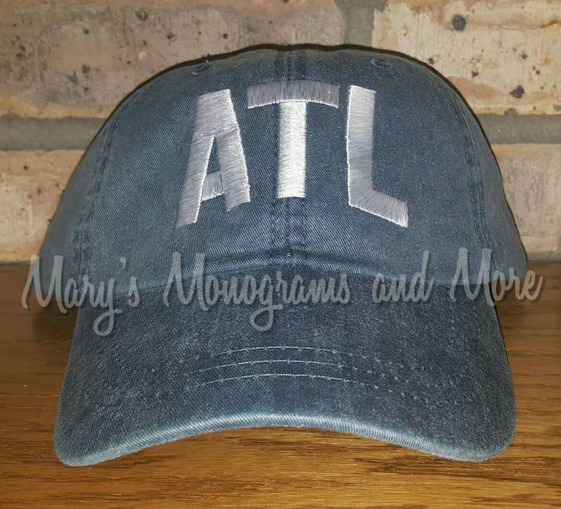 8548357b712 ATL Airport Code Hat Atlanta Airport Code Baseball Hat