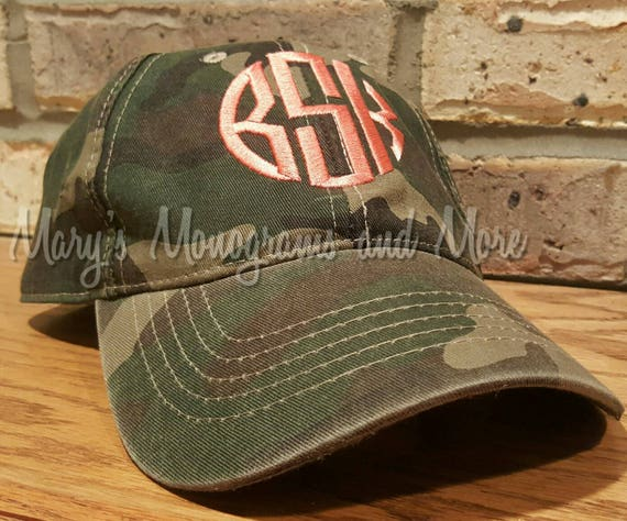 Monogrammed Camo Baseball Hat Embroidered Personalized  10160e25079