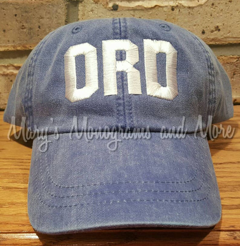 8e0906d348d ORD Airport Code Hat Embroidered Chicago Baseball Hat