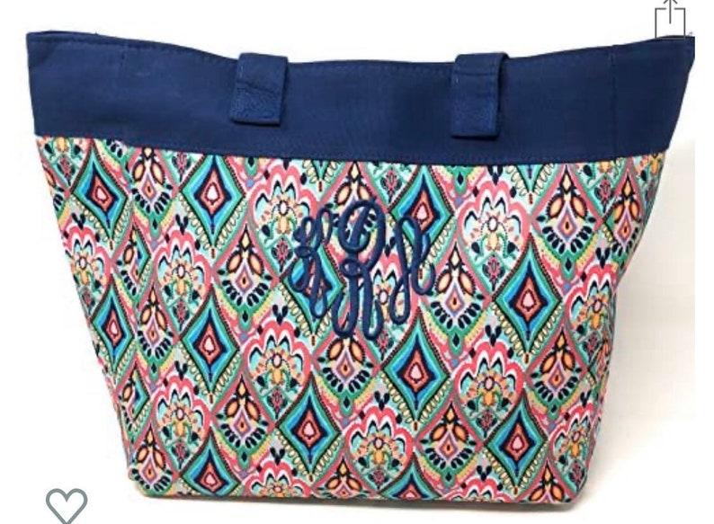 Customed Embroidered Monogrammed Beach Tote Bag