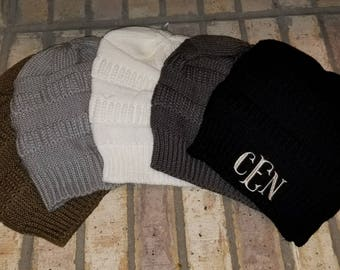 Free Shipping, embroidery monogrammed cable knit slouch beanie, personalized winter hat, cap, slouch cold weather beanie