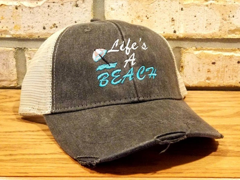 63007f76a4e435 Life's A Beach Hat I'll Bring The Alcohol and Bad | Etsy