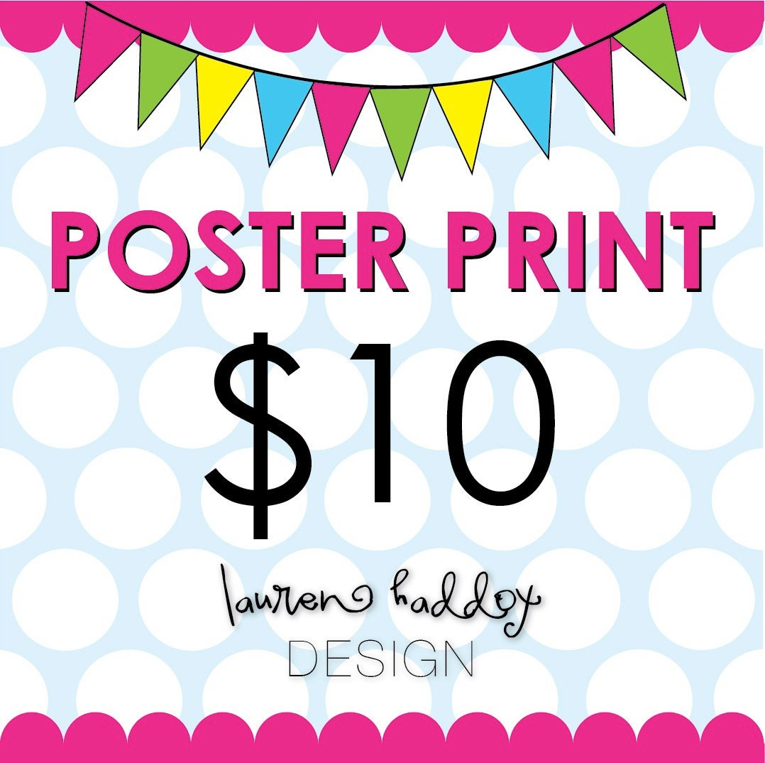 diy poster print 20x30 poster print selected from any etsy