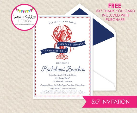 image regarding Crawfish Boil Invitations Free Printable identify Crawfish Boil Invitation, Crawfish Birthday, Crawfish