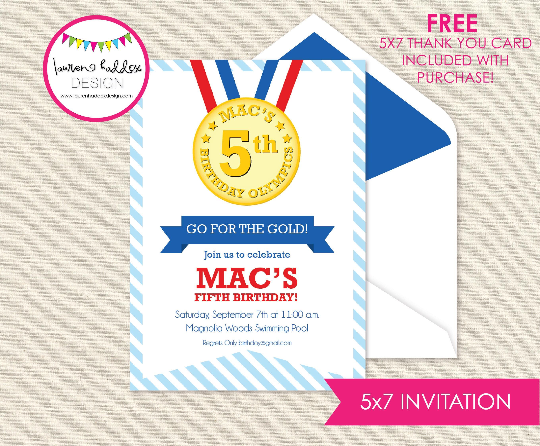 Olympics Birthday Invitation Olympics Olympics Birthday Etsy