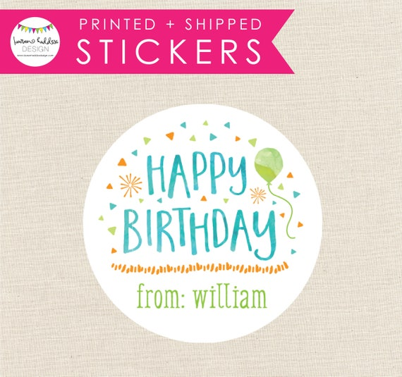 Custom Kids Birthday Tags Personalized Gift Stickers Present Labels Boys For Gifts Lauren Haddox Design