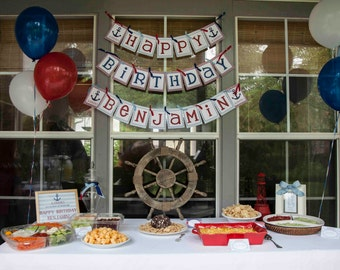DIY, Nautical Birthday PARTY PACK