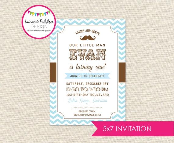 Little Man Birthday Invitation Printables Decorations Lauren Haddox Designs