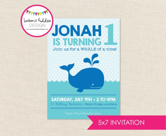 Whale Birthday Invitation Whale Birthday Whale Printables Whale
