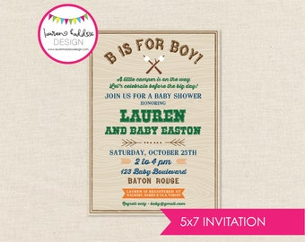 DIY, Camping Baby Shower INVITATION ONLY