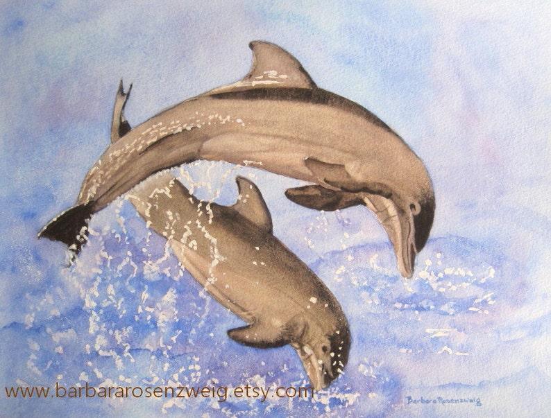 Coastal Decor Anna Maria Island Beach Wall Art Dolphin image 0