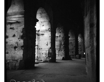 "Limited Edition Colosseum Rome Italy Architecture 24x24"" Photograph Matted and Framed"