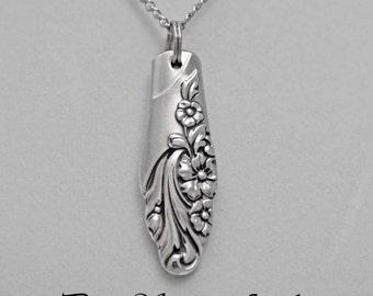 Spoon Jewelry, Spoon NECKLACE Pendant, Silverware Jewelry, Evening Star 1950