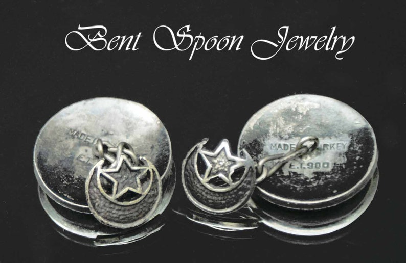 Silver 900 Made in Turkey Turkish Islamic Muslim Middle Eastern Cuff links