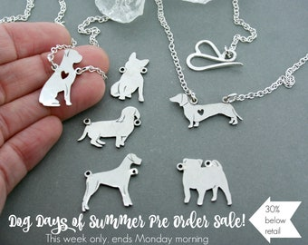 PRE ORDER - Dog silhouette necklace