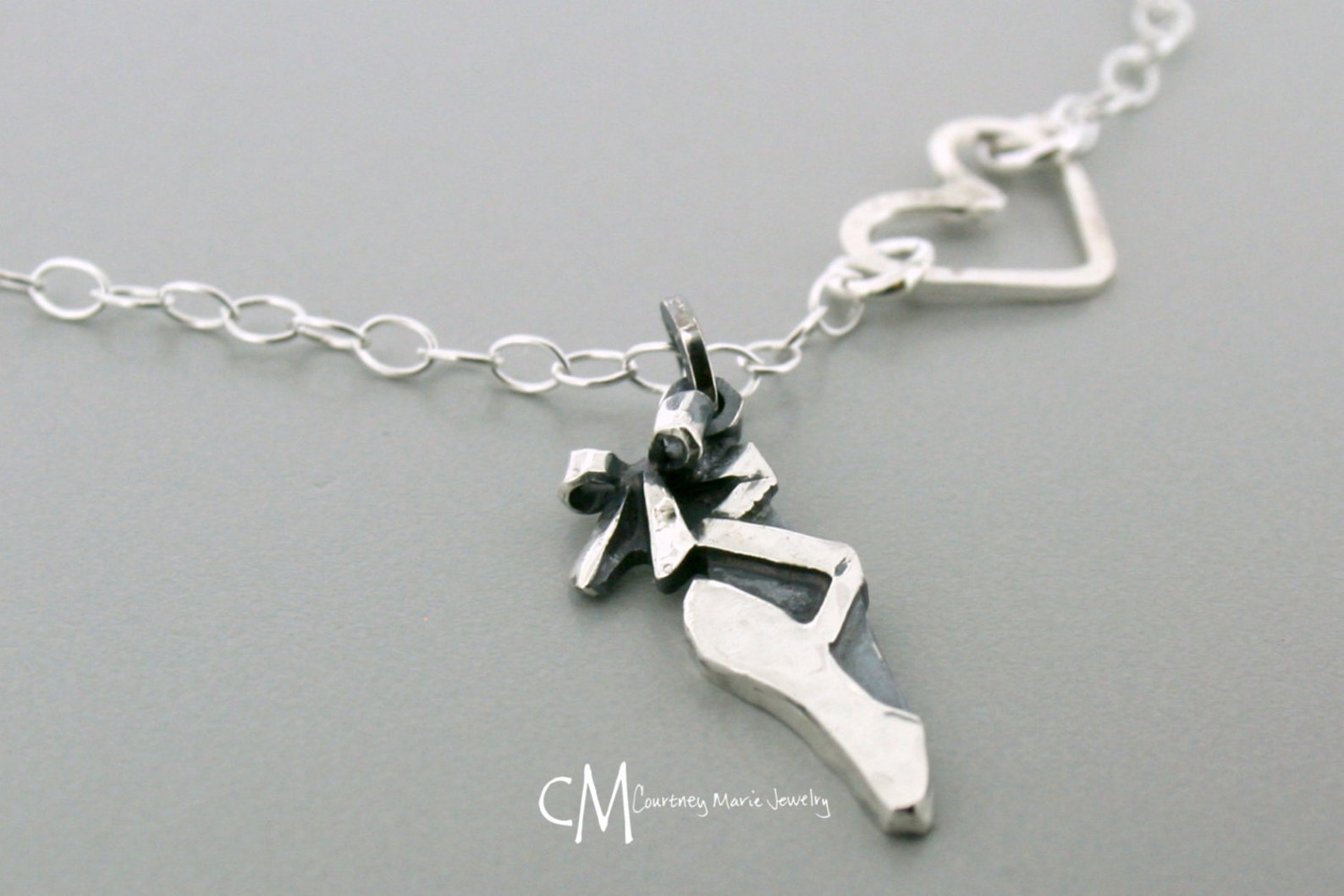 ballet shoe - pointe shoe charm - dance jewelry - ballet charm - gift for dancer - ballet charm - ballerina gift - sterling silv