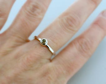 Gift For Mom - Stacking Rings - Birthstone Dainty Ring - Birthstone Ring - Stackable Ring - Stacker Ring