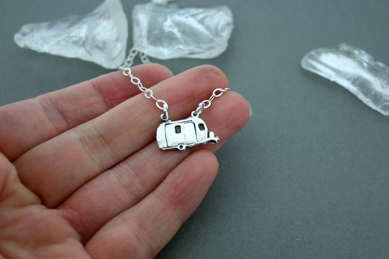 Sterling Silver Camper Necklace Glamper Jewelry