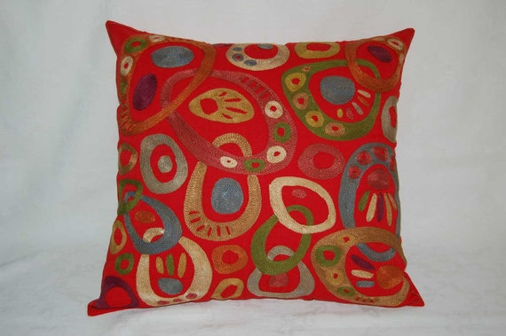 Suzani Pillow Suzani cushions Silk Suzani Pillowcase Embroidery Suzani Fabric Suzani pillow cover Handmade Suzani Uzbek suzani Pillow