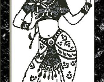 Somewhere in India - Jasmin - cross stitch pattern