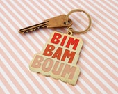 Bim Bam boum Enamel Keychain gold and orange gradient