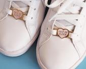 """Heart Lace locks for sneakers """"Trop de love"""""""