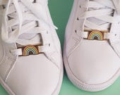 "Lace locks for sneakers ""Rainbow Pastel"""