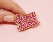 "Enamel pins ""Bichette Forever"" red and gold"