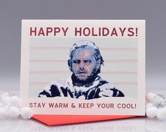 KEEP YOUR COOL - The Shining - Funny Christmas Card - The Shining Christmas Card - Jack Nicholson - Seas and Peas - Item# X067