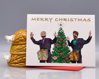 A DICK In A BOX CHRISTMAS - Funny Christmas Card - Lonely Island - Dick In A Box - Christmas - Seas and Peas - snl - Mature - Item# X063