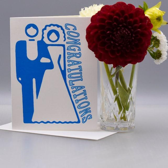 A SIMPLE WEDDING CONGRATULATIONS Card - Wedding Card - Congratulations - Item# C043