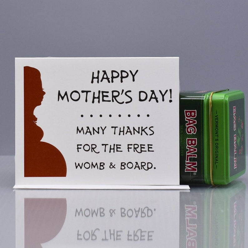 FREE WOMB & BOARD  Funny Mother's Day Card  Funny Mom image 0