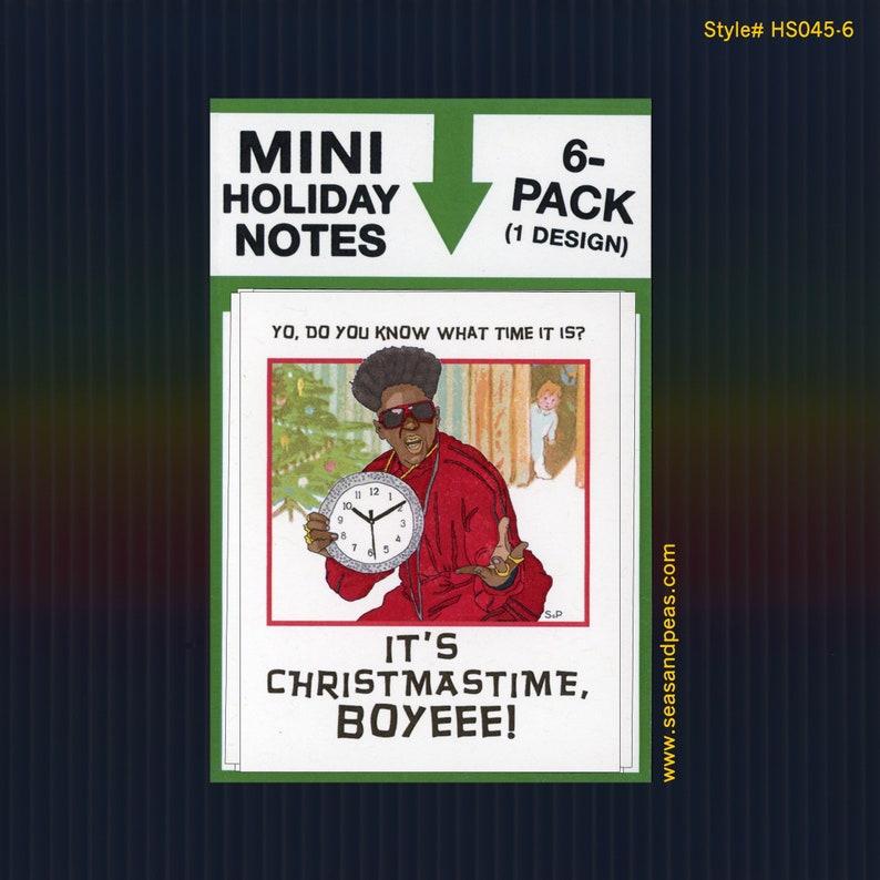 Seas and Peas Item# HS041 FLAVOR FLAV CHRISTMAS Mini Flat Notecard Set