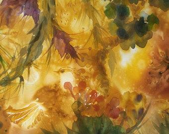 Wunderschöne Landschaft, Malerei In Satten Farben, Wohnliche Kunst,  Bernstein Zimmer Dekor, Perelandra, Garten Eden Mit Fantastischen Vögeln,  ...