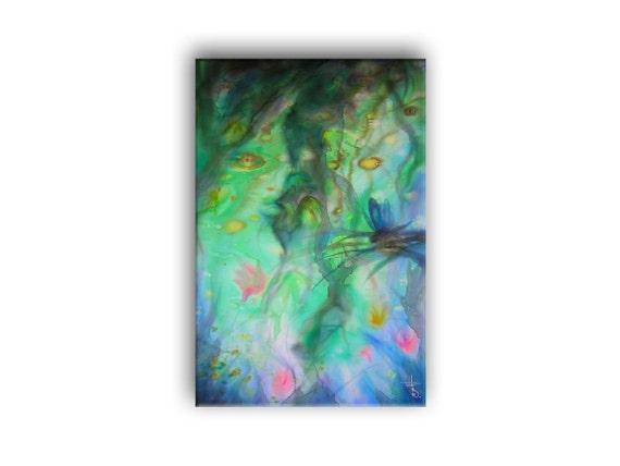 Entspannen Libelle Kunstdruck Auf Leinwand Von | Etsy