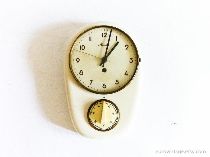 Orologio da parete cucina vintage Mauthe w Timer / Orologio da | Etsy