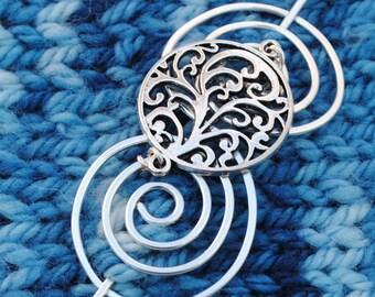 Elegant Spirals Shawl Pin