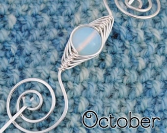 Octobar Opal Birthstone Noteworthy Shawl Pin
