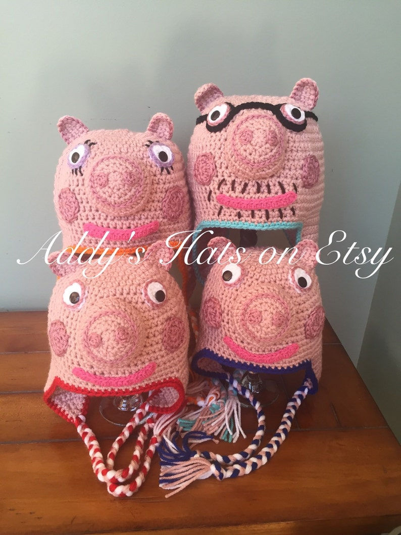 e718eb311e3 Mummy Pig Daddy Pig Peppa or George inspired hat. You
