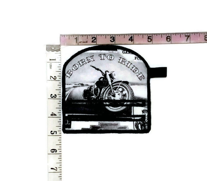 Motorcycle theme magnetic note holder