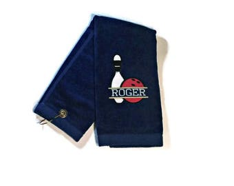 Tri fold bowling towel