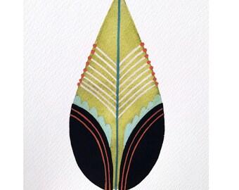 Tiki Leaf- Fine Art Print 5x7