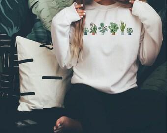 Houseplant Sweatshirt Unisex, Plant Sweatshirt, Plant Lady Sweatshirt, Plant Lover Gift, Houseplants Sweatshirt, Plant Mom, Sweater