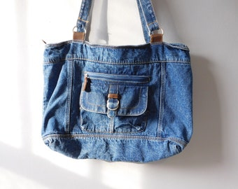 Large Vintage Denim Purse 8630d24455440