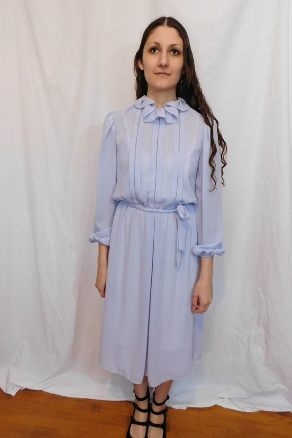 Vintage Ruffle Collar Office Dress, Easter, Sprin… - image 10
