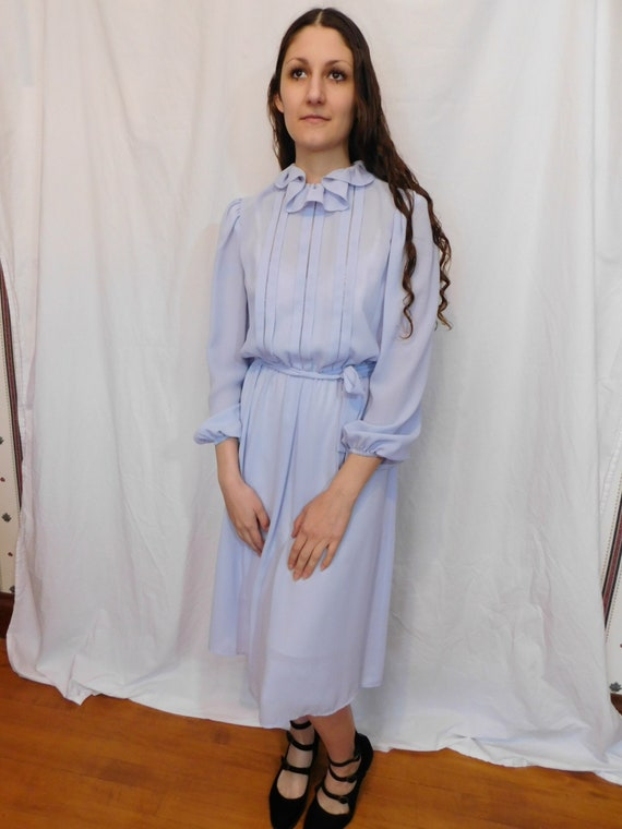 Vintage Ruffle Collar Office Dress, Easter, Sprin… - image 3