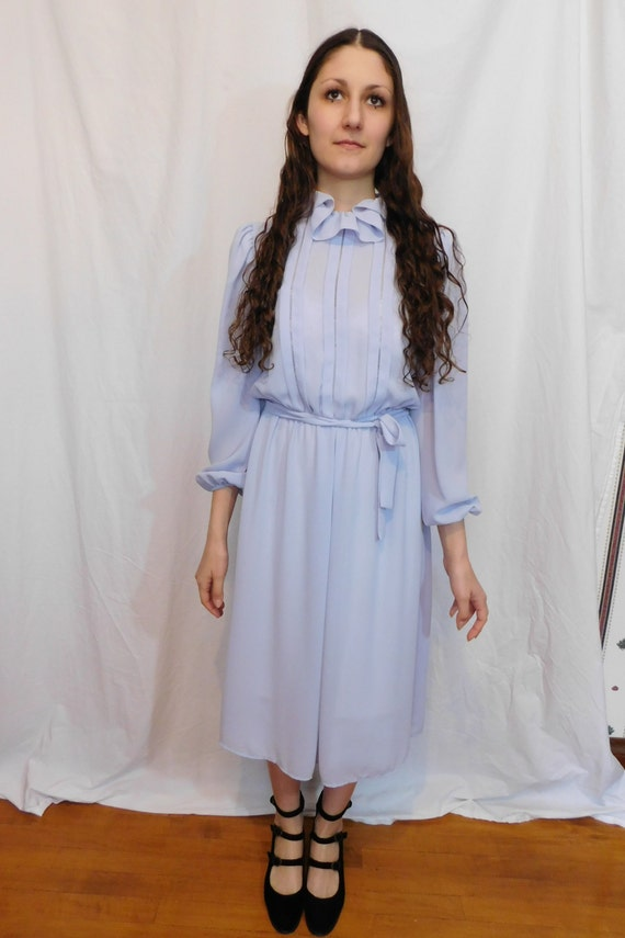Vintage Ruffle Collar Office Dress, Easter, Sprin… - image 8