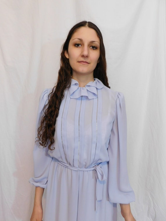 Vintage Ruffle Collar Office Dress, Easter, Sprin… - image 4