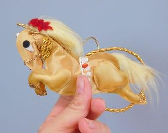 Vintage Christmas Ornament, Xmas Tree Decor, Circus Pony Ornament