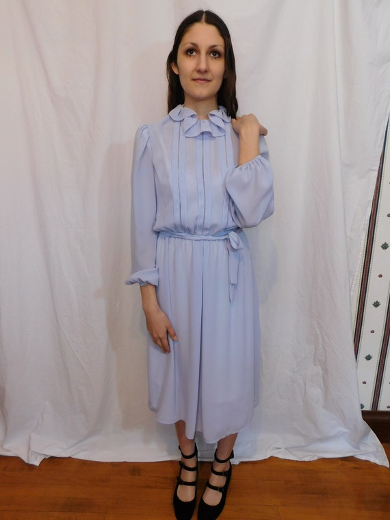 Vintage Ruffle Collar Office Dress, Easter, Sprin… - image 2